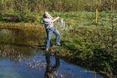 Wasser-Hindernis Golf